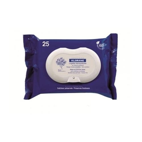 Klorane Салфетки Eye Care Range успокаивающие для снятия макияжа с экстрактом василька 25 шт. klorane салфетки успокаивающие для снятия макияжа с экстрактом василька 25 шт