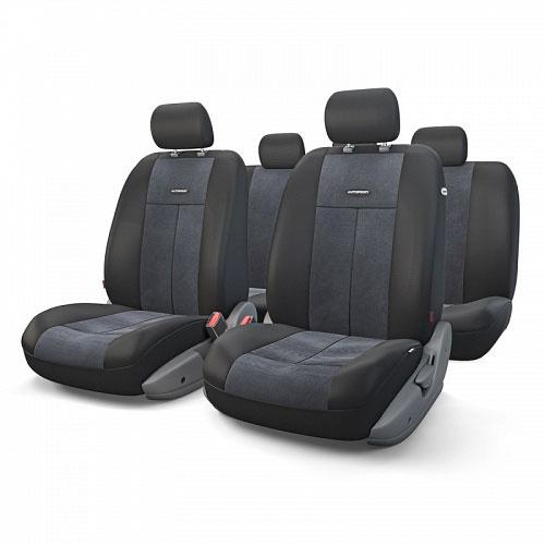 Авточехлы Autoprofi TT, цвет: черный, 9 предметов. TT-902V BK/BK alliance 324 9 5 32 tt
