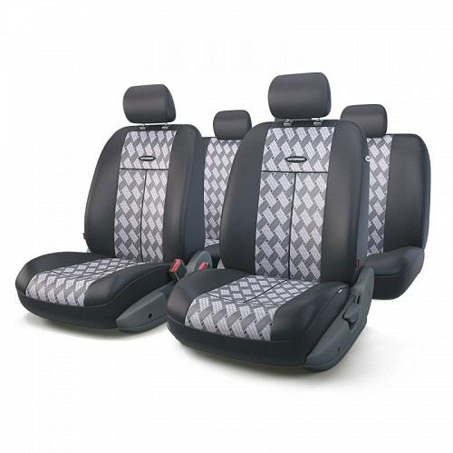 Авточехлы Autoprofi TT, цвет: черный, серый, 9 предметов. TT-902J CHESS alliance 324 9 5 32 tt