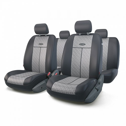 Авточехлы Autoprofi TT, цвет: черный, серый, 9 предметов. TT-902J STEEL alliance 324 9 5 32 tt