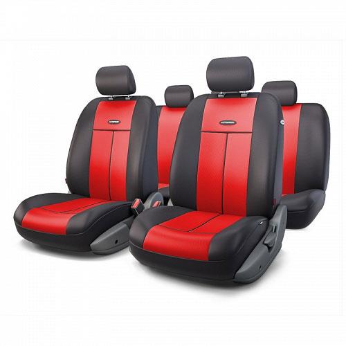 Авточехлы Autoprofi TT, цвет: черный, красный, 9 предметов. TT-902P BK/RD цена