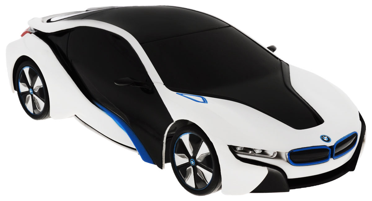 Rastar Радиоуправляемая модель BMW i8 цвет черный белый масштаб 1:24 rastar 1 24 ferrari ff 40 mhz 46700w белый