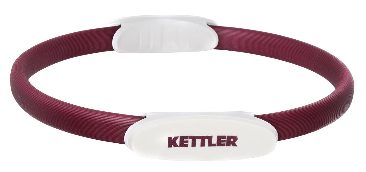 Обруч для пилатеса Kettler, цвет: бордовый, жемчужно-белый, 38 см скакалка kettler цвет жемчужно белый серый