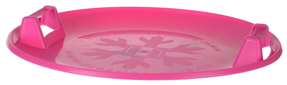 Санки-ледянки Престиж Экстрим, с пластиковыми ручками, цвет: малиновый, диаметр 58 см