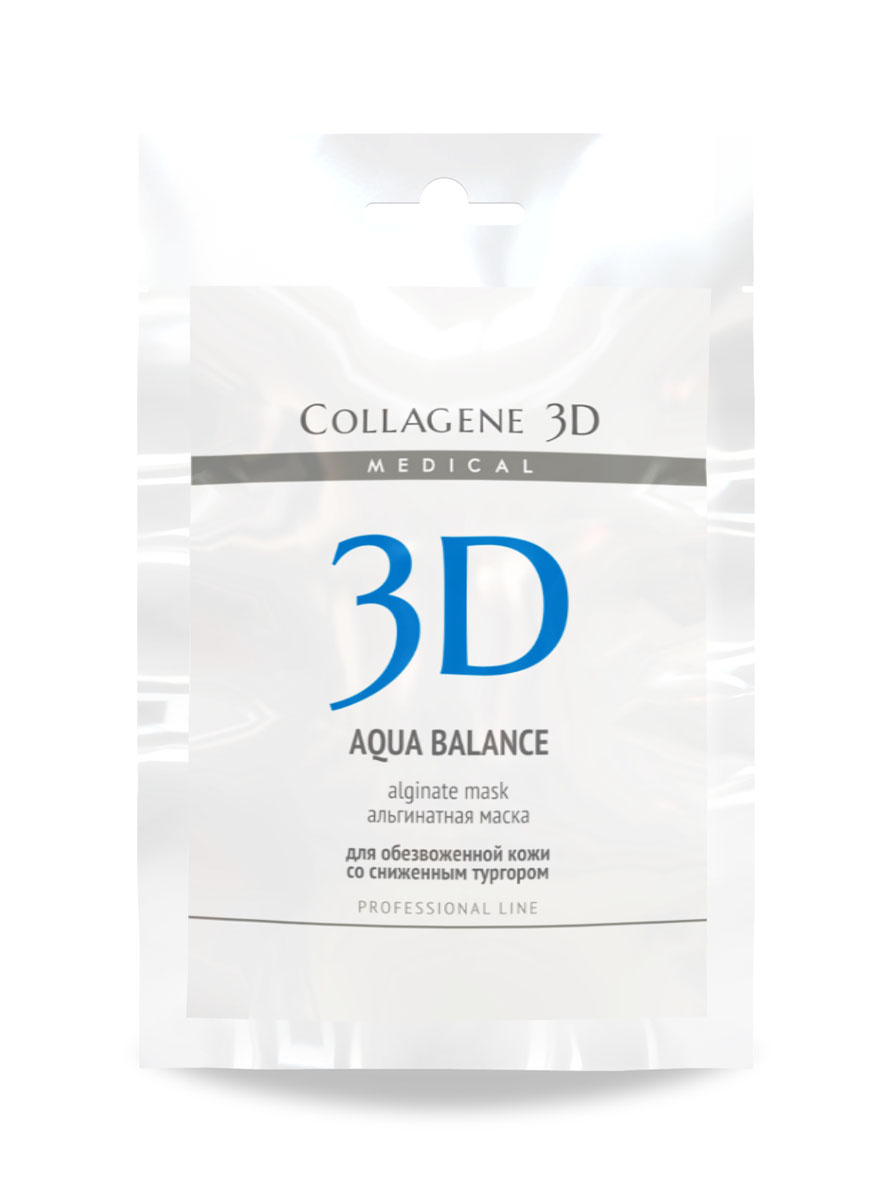 цена на Medical Collagene 3D Альгинатная маска для лица и тела Aqua Balance, 30 г