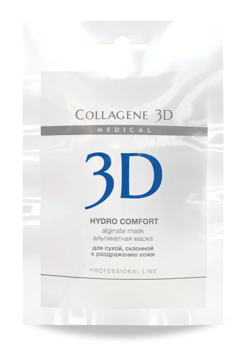 Medical Collagene 3D Альгинатная маска для лица и тела Hydro Comfort, 30 г collagene 3d альгинатная маска для лица и тела hydro comfort с экстрактом алое вера 1200 г