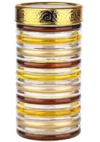 Банка для сыпучих продуктов Bohmann Кольца, цвет: прозрачный, золотой, коричневый, 1,7 л банка для сыпучих продуктов terracotta сардиния цвет белый терракотовый высота 13 см