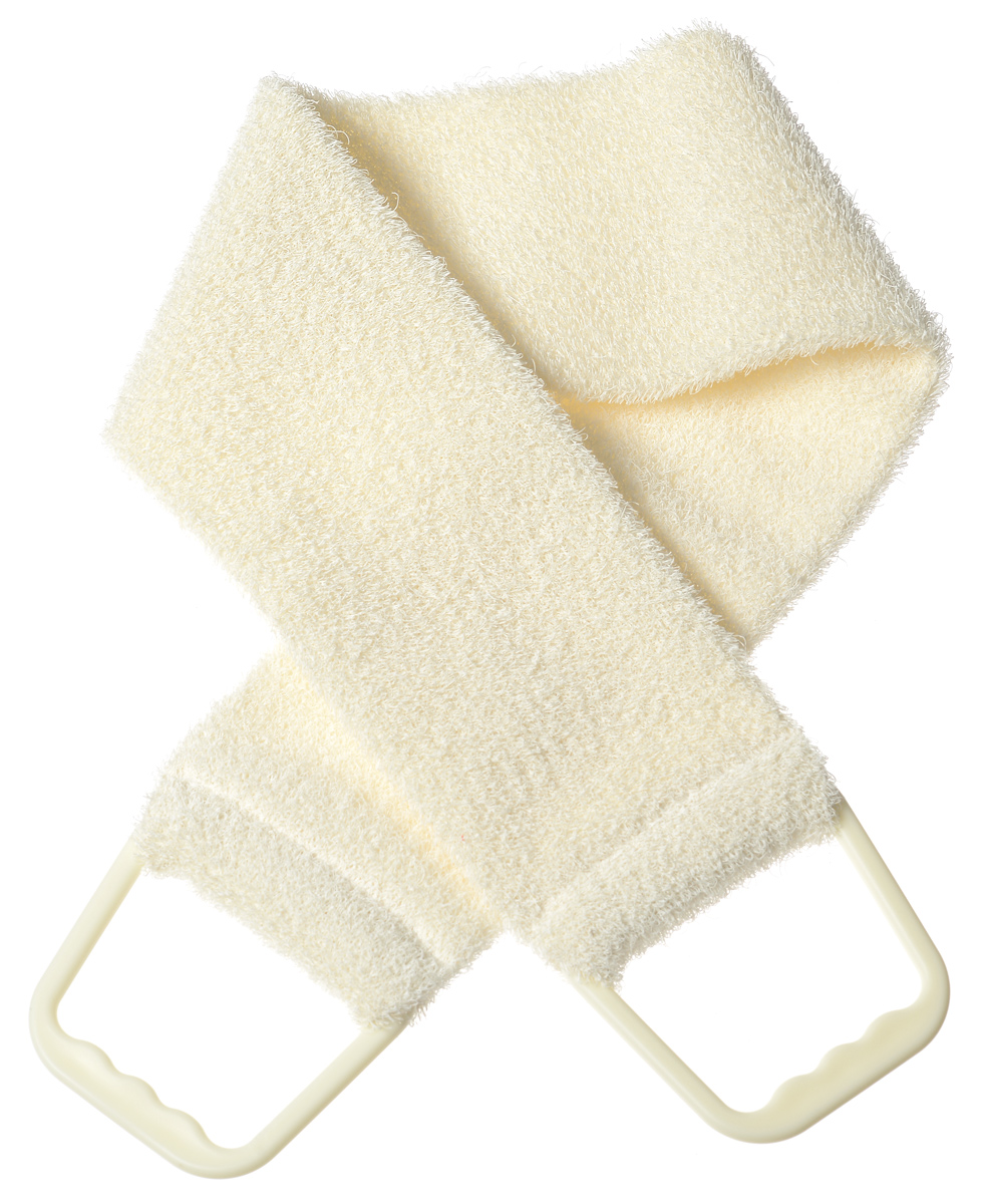 Riffi Мочалка-пояс, массажная, жесткая, цвет: молочный