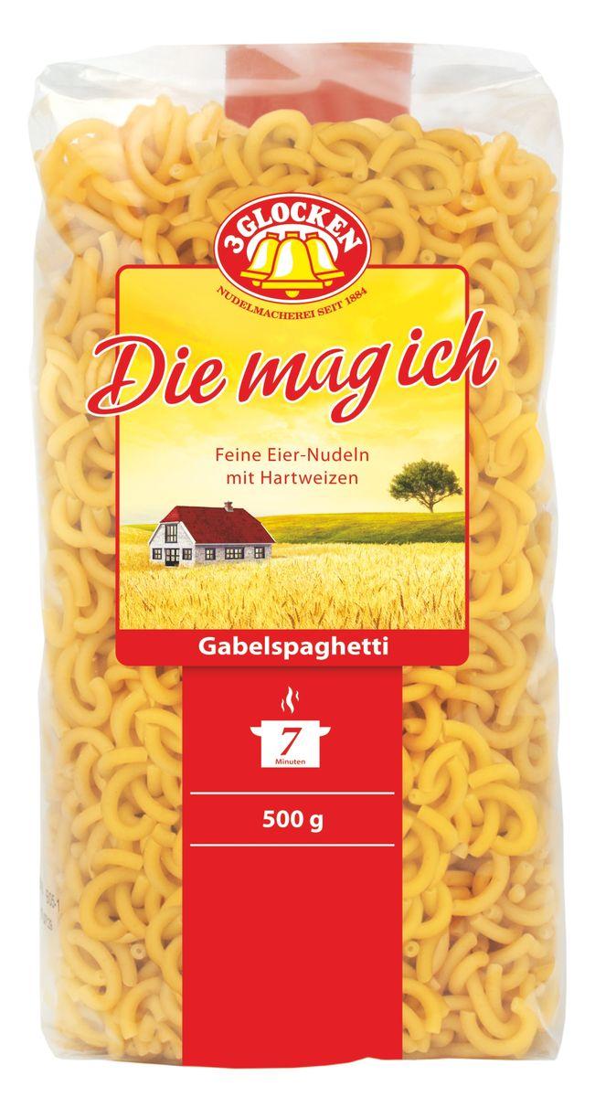 3 Glocken Gabelspagetti мелкие рожки, 500 г