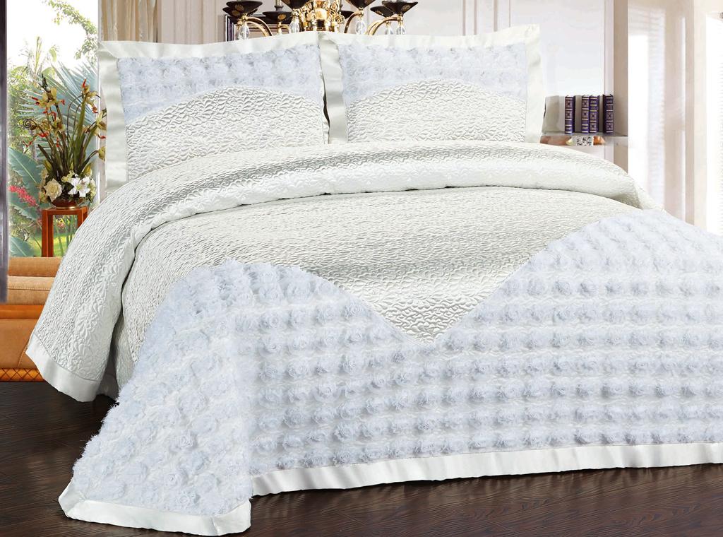 """Комплект для спальни """"SL Soft Line"""": покрывало 240 х 260 см, наволочки 50 х 70 см. 10387"""