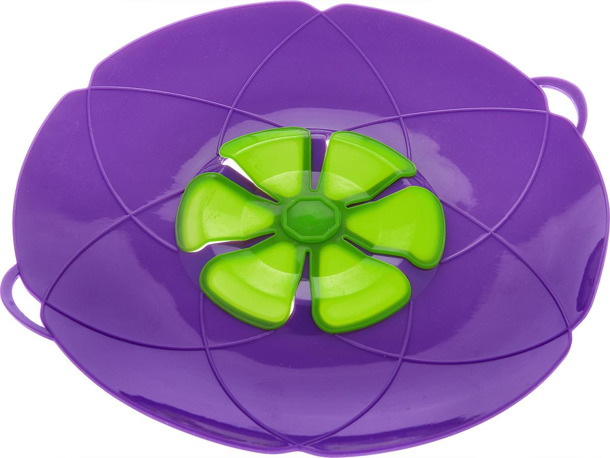 Крышка-невыкипайка Mayer & Boch, цвет: фиолетовый. Диаметр 28 см крышка невыкипайка mayer