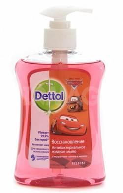 Жидкое мыло Dettol Восстановление, с Декор Элем М, с экстрактами граната и малины, 250 мл деттол гель для рук 50мл