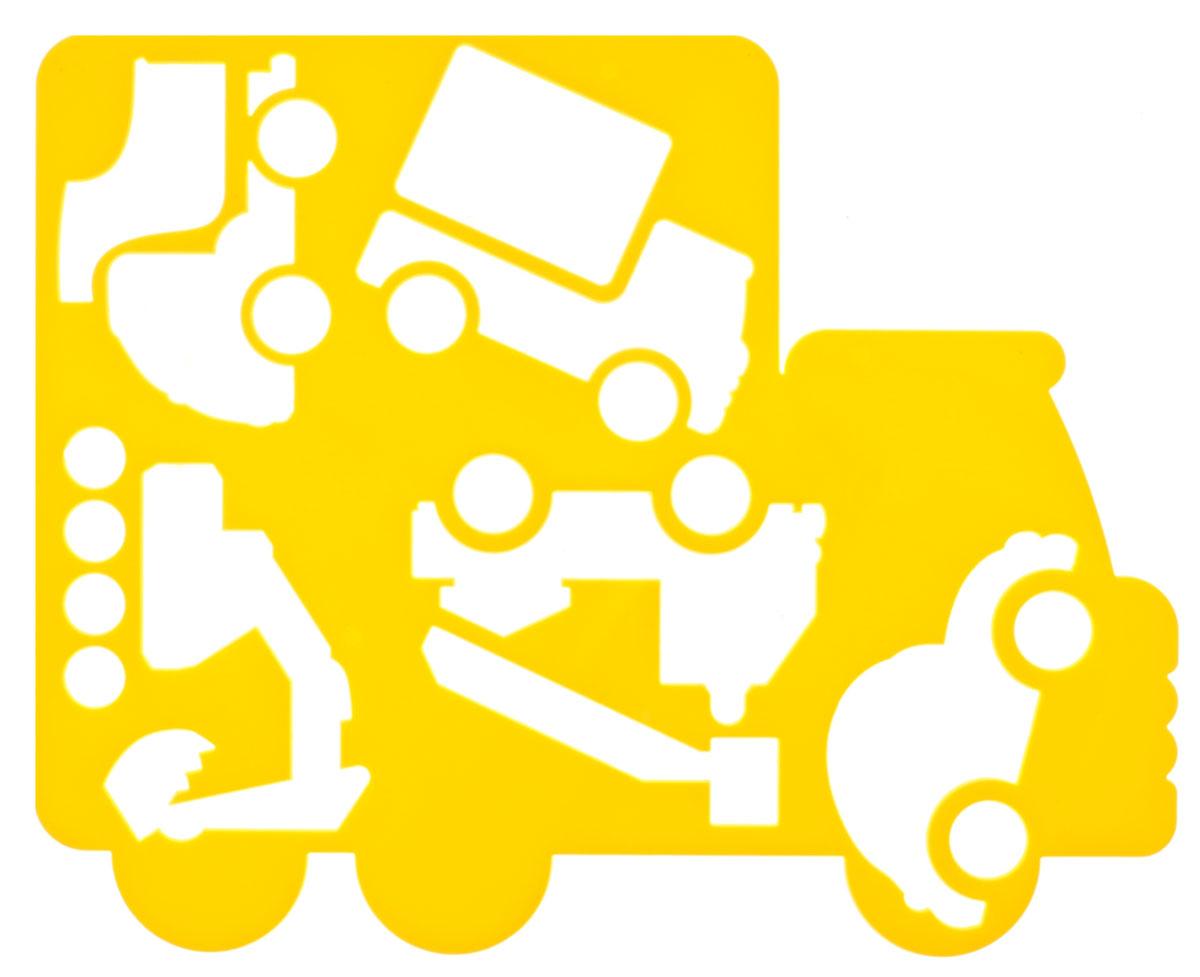 Луч Трафарет фигурный Автомобили цвет желтый