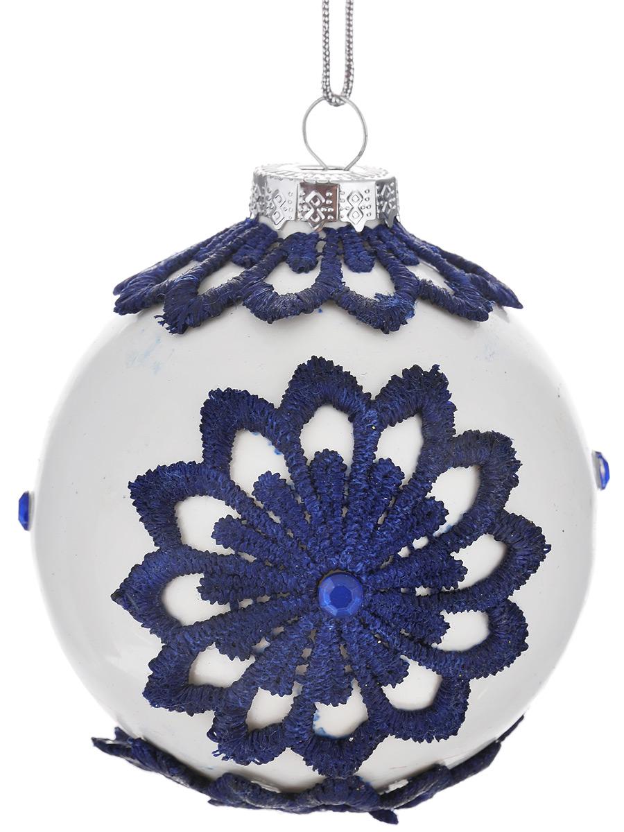 Новогоднее подвесное украшение Феникс-Презент Русский стиль, диаметр 8 см новогоднее подвесное украшение феникс презент белая метель диаметр 8 см