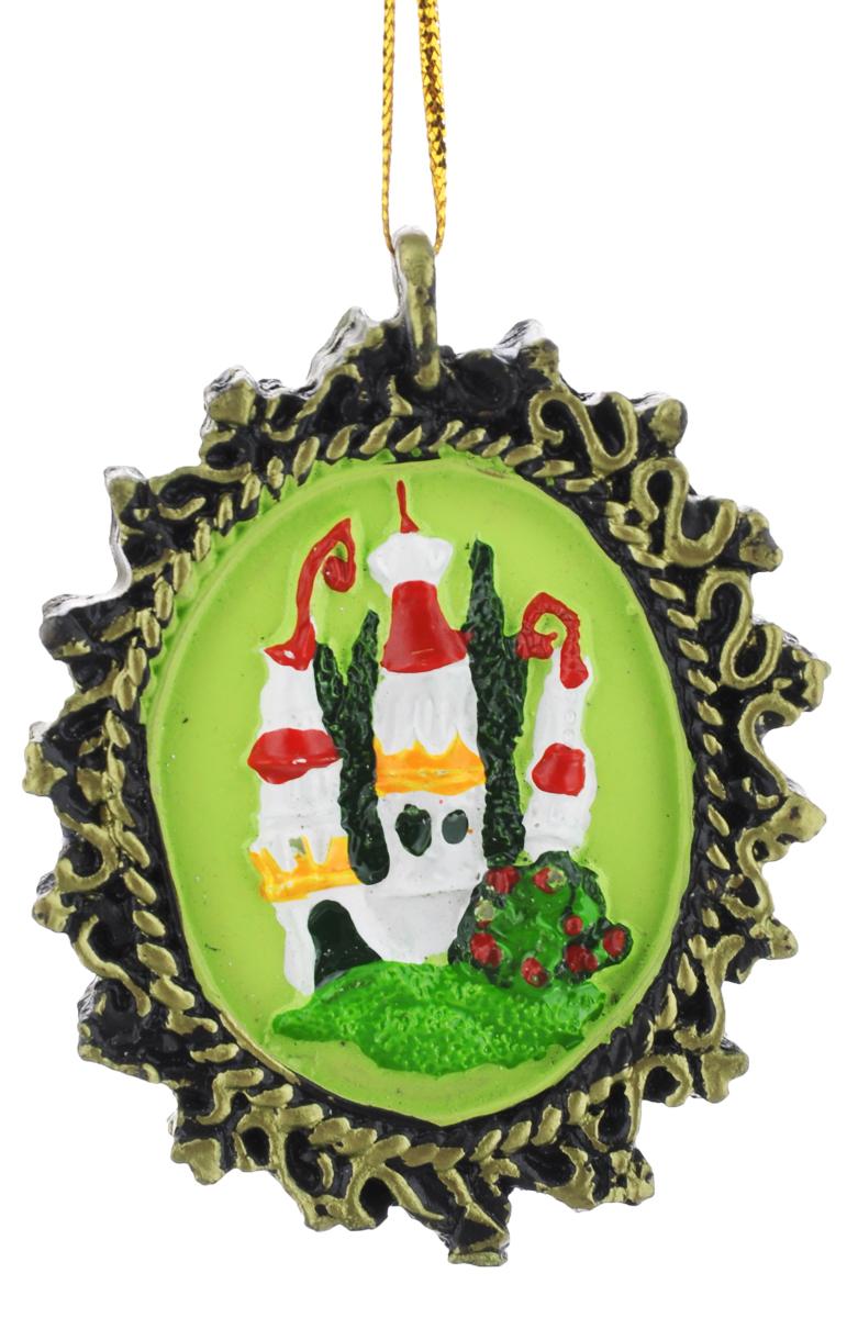 Новогоднее подвесное украшение Феникс-Презент, 7 х 5,5 см феникс презент украшение новогоднее подвесное сова пират из полирезины