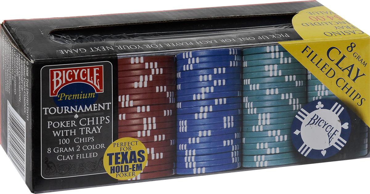 Фишки для покера Bicycle, 8 г, 100 шт фишки для покера с номиналом 11 5 г 25 штук