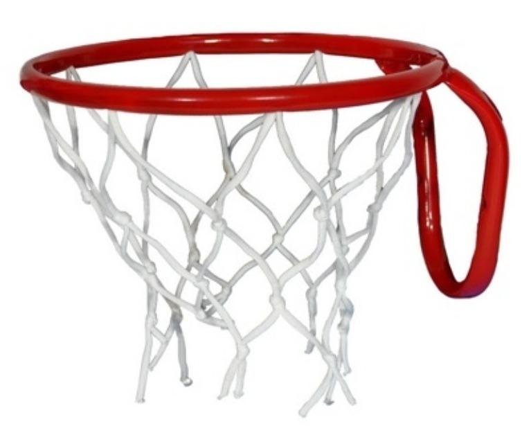 Фото - Кольцо баскетбольное №3 с сеткой, М-Торг, 29,5 см, красный горка qiaoqiao мишка баскетбольное кольцо 168x88x108h qq12065 3