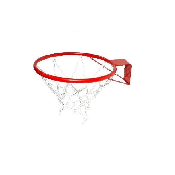 Кольцо баскетбольное №7 с сеткой, М-Торг, 45 см, красный стоимость
