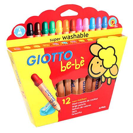 """Цветные карандаши Giotto Bebe """"Super Largepencils"""", c точилкой, 12 цветов"""