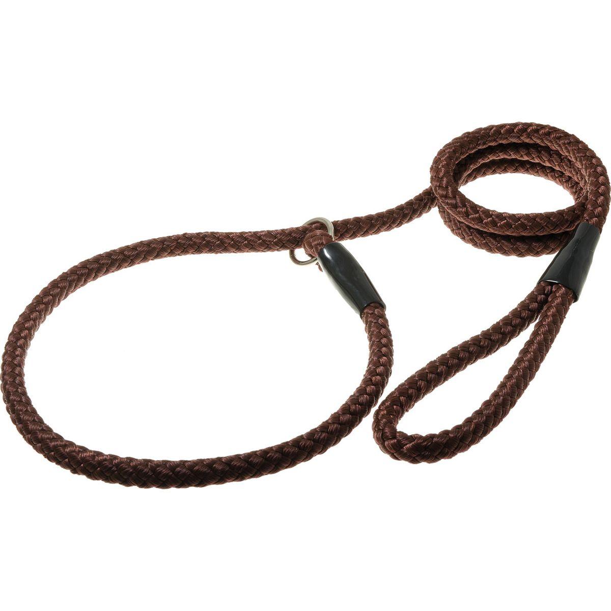 Поводок для собак V.I.Pet, цвет: коричневый, диаметр 12 мм, длина 1,7 м поводок для собак happy house luxury цвет темно коричневый длина 125 см