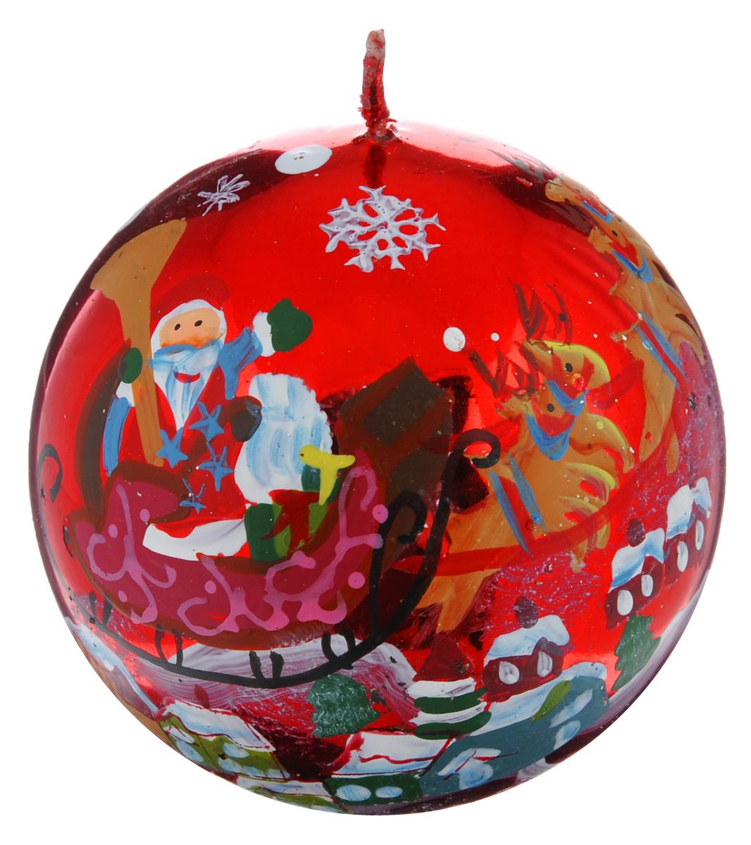 Свеча-шар Winter Wings Дед Мороз, диаметр 7,3 см наклейка winter wings панно дед мороз и дети 29 5х40 см n09277