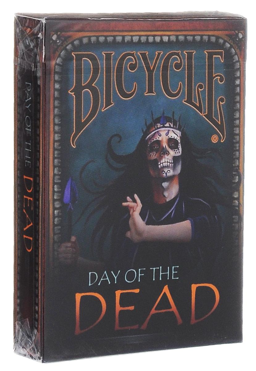 Карты игральные коллекционные Bicycle День мертвеца, цвет: черный, синий карты игральные коллекционные bicycle tragic royalty 54 шт