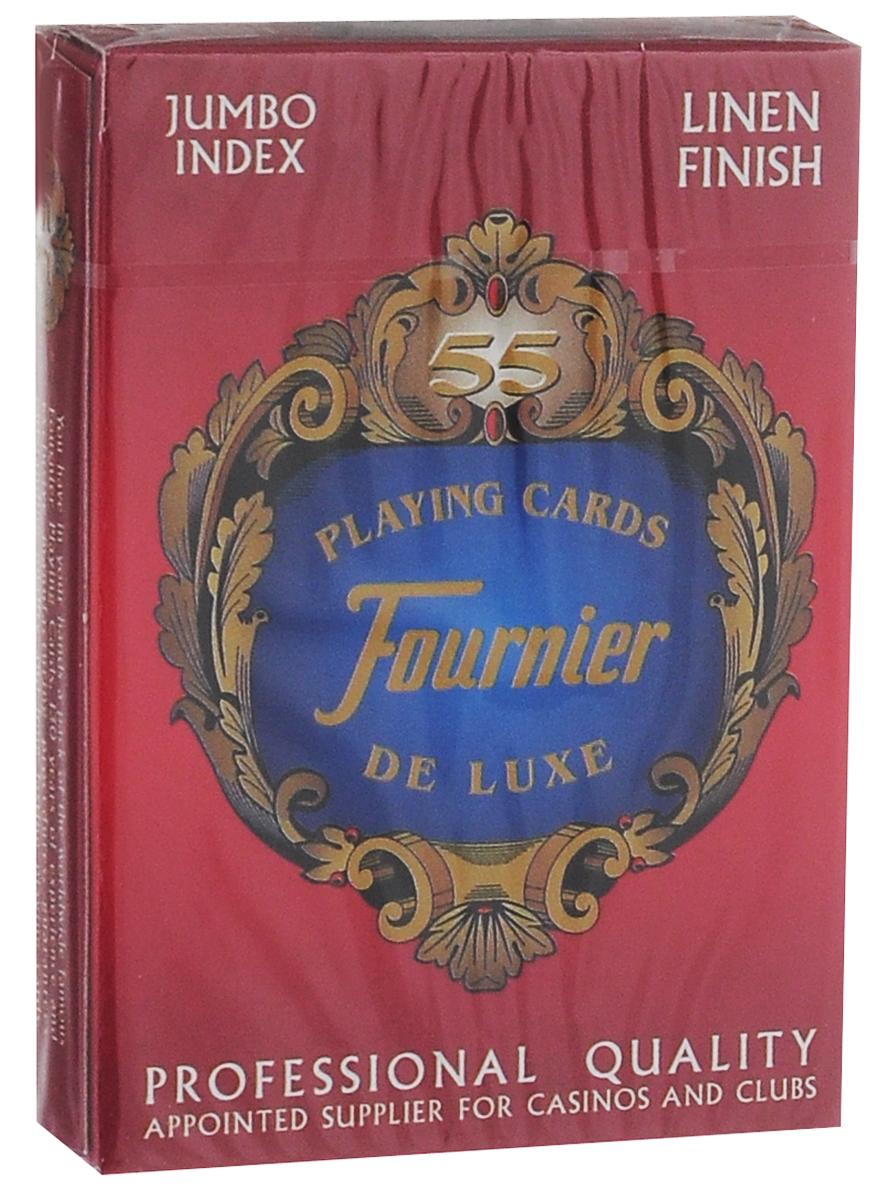 Карты игральные Fournier №818 G-Linen Finish, 55 листов игральные карты fournier fournier 2818 100