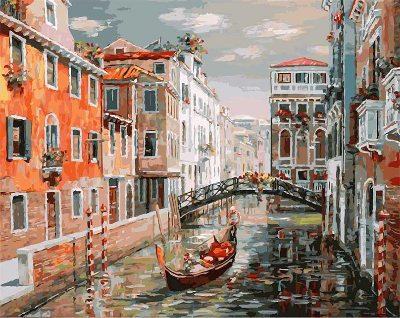 Живопись на холсте Белоснежка Венеция. Канал Сан Джованни Латерано, 40 х 50 см живопись на картоне белоснежка гранд канал венеция 30 х 40 см