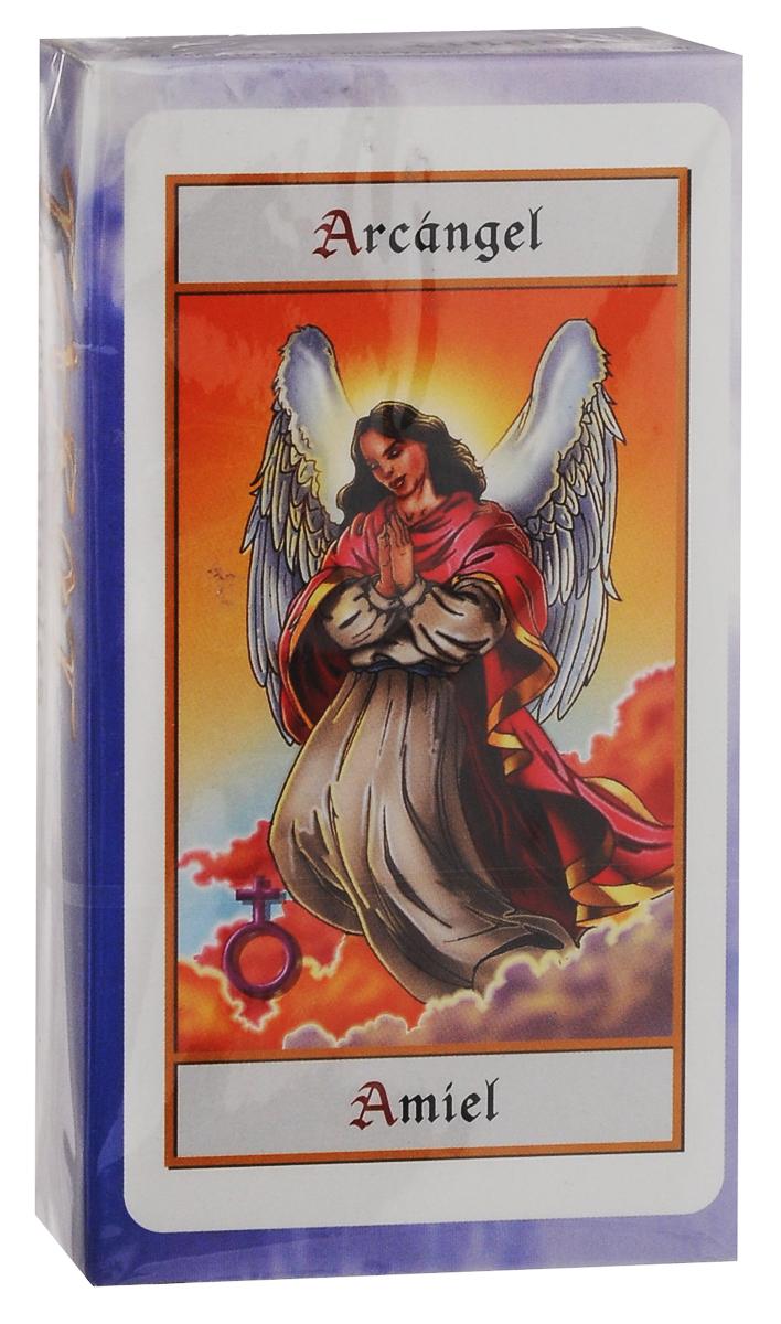 Карты Таро Fournier Angels Tarot TuckBox, цвет: синий, белый, 78 карт игральные карты fournier fournier 2818 100