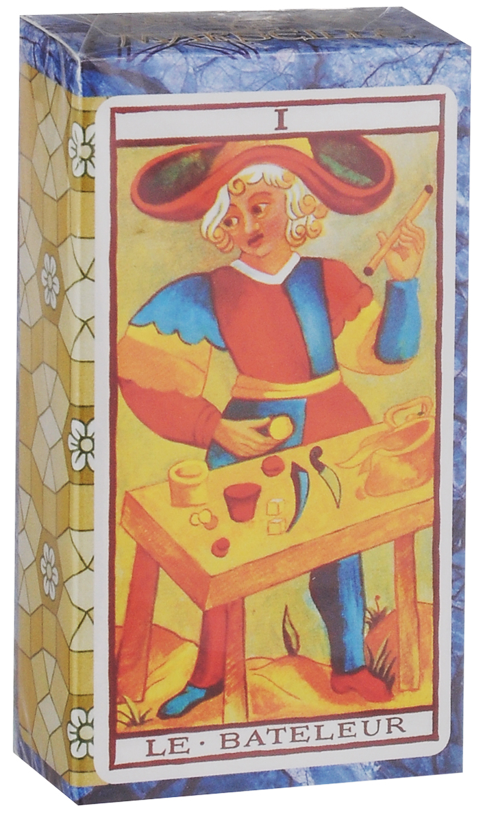 Карты Таро Fournier Le Tarot de Marseille TuckBox, цвет: синий, желтый, 78 карт игральные карты fournier fournier 2818 100
