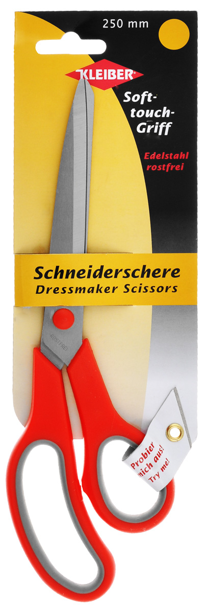 Ножницы портновские Kleiber Мягкий контакт, цвет: красный, серый, длина 25 см carlos kleiber carlos kleiber complete orchestral recordings 4 lp box