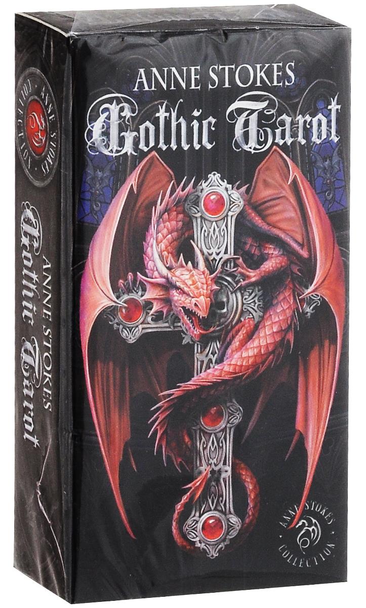 Карты Таро Fournier Anne Stokes Gothic Tarot, цвет: черный, красный, 78 карт игральные карты fournier fournier 2818 100