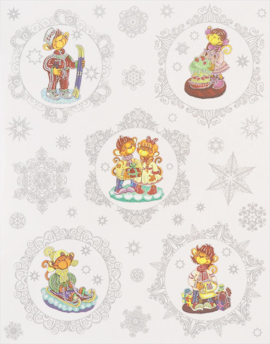 Новогоднее оконное украшение Феникс-презент