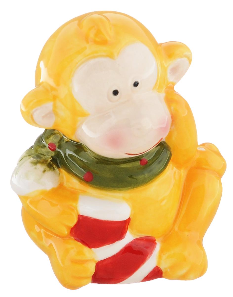 Сувенир Sima-land Обезьянка в шарфике, цвет: желтый, 7 х 5,7 х 8,5 см подсвечник декоративный sima land обезьянка в шарфике на шаре высота 13 3 см