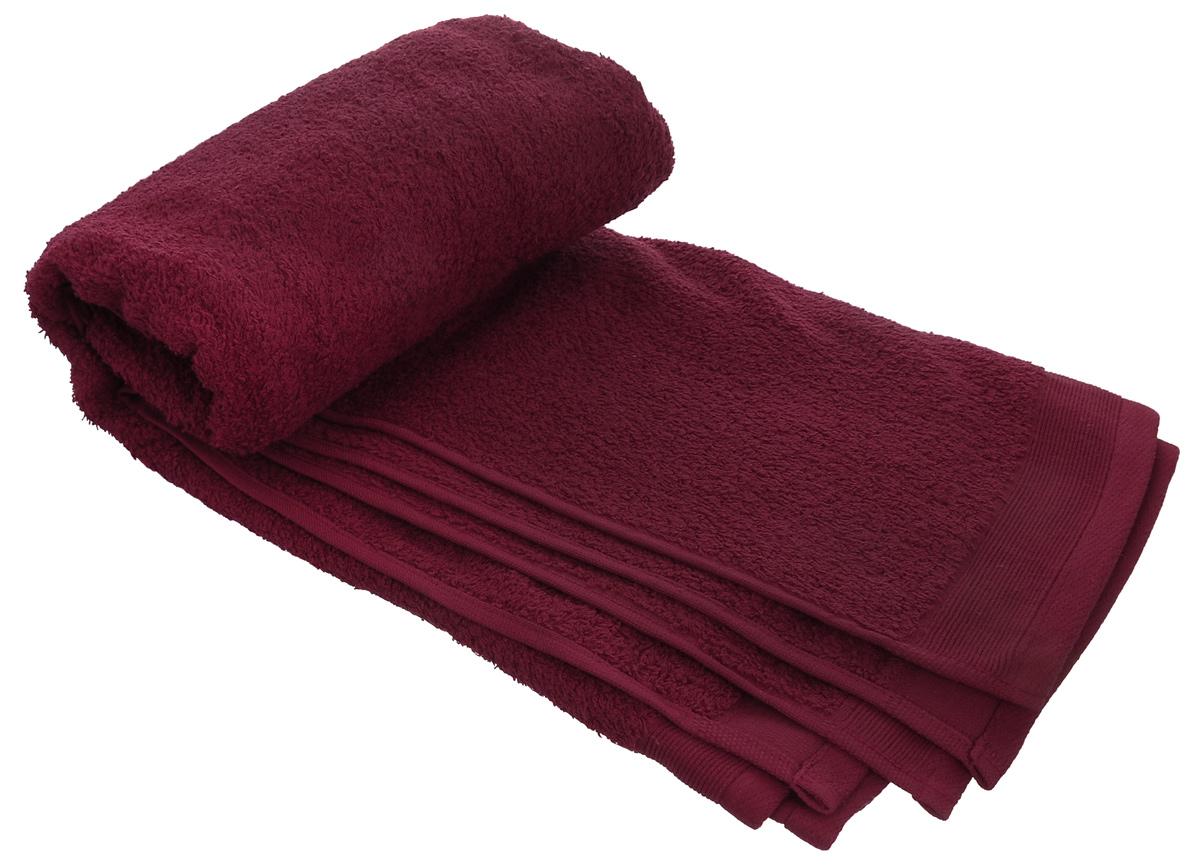 Полотенце махровое Guten Morgen, цвет: темно-красный, 100 см х 150 см полотенце махровое guten morgen цвет темно голубой 50 см х 100 см