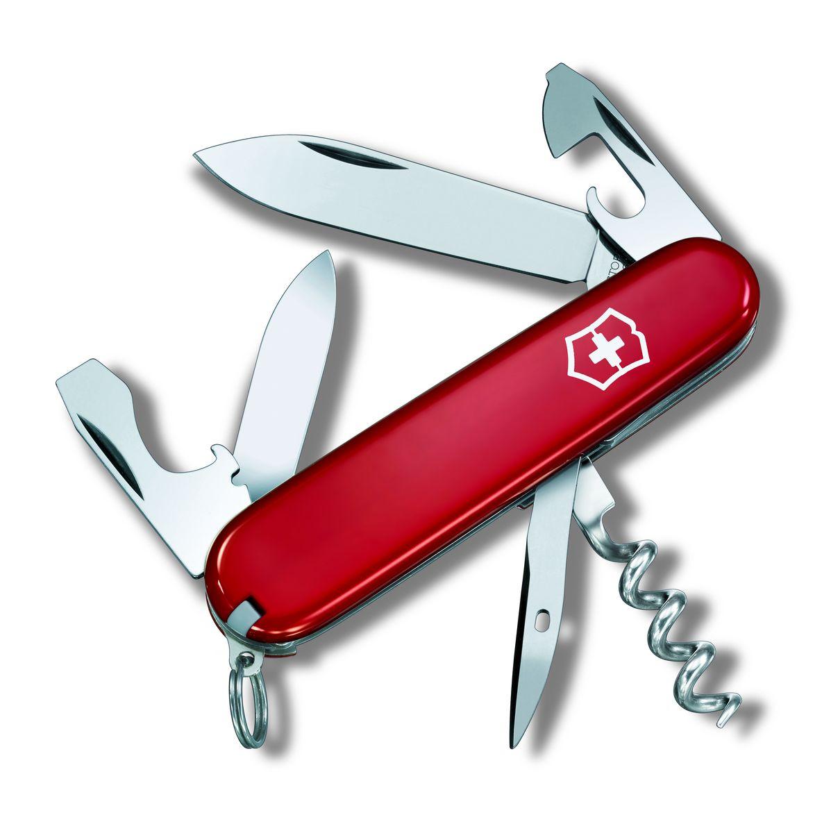 """Нож перочинный Victorinox """"Tourist 0.3603"""", цвет: красный, длина клинка 63 мм"""
