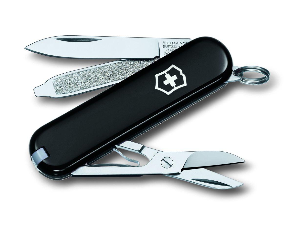 """Нож-брелок Victorinox """"Classic SD"""", цвет: черный, 7 функций, 5,8 см"""