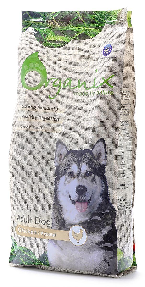 """Корм сухой """"Organix"""", для взрослых собак, с курицей и цельным рисом, 12 кг"""