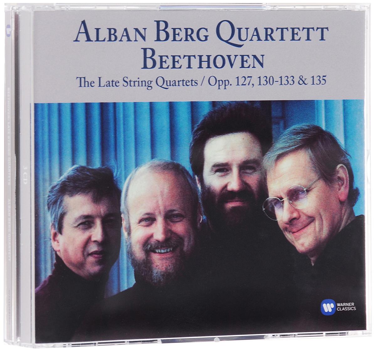 Alban Berg Quartet,Гюнтер Пичлер,Герхард Шульц,Томас Какуска,Валентин Эрбен Alban Berg Quartett. Beethoven. The Late String Quartets. Opp. 127, 130, 131, 132, 133 & 135 (3 CD) c a gibbs string quartet no 3 in e minor op 18