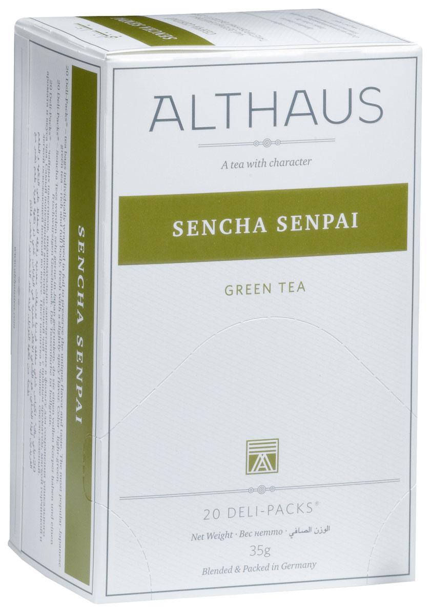Althaus Sencha Senpai чай зеленый в пакетиках, 20 шт