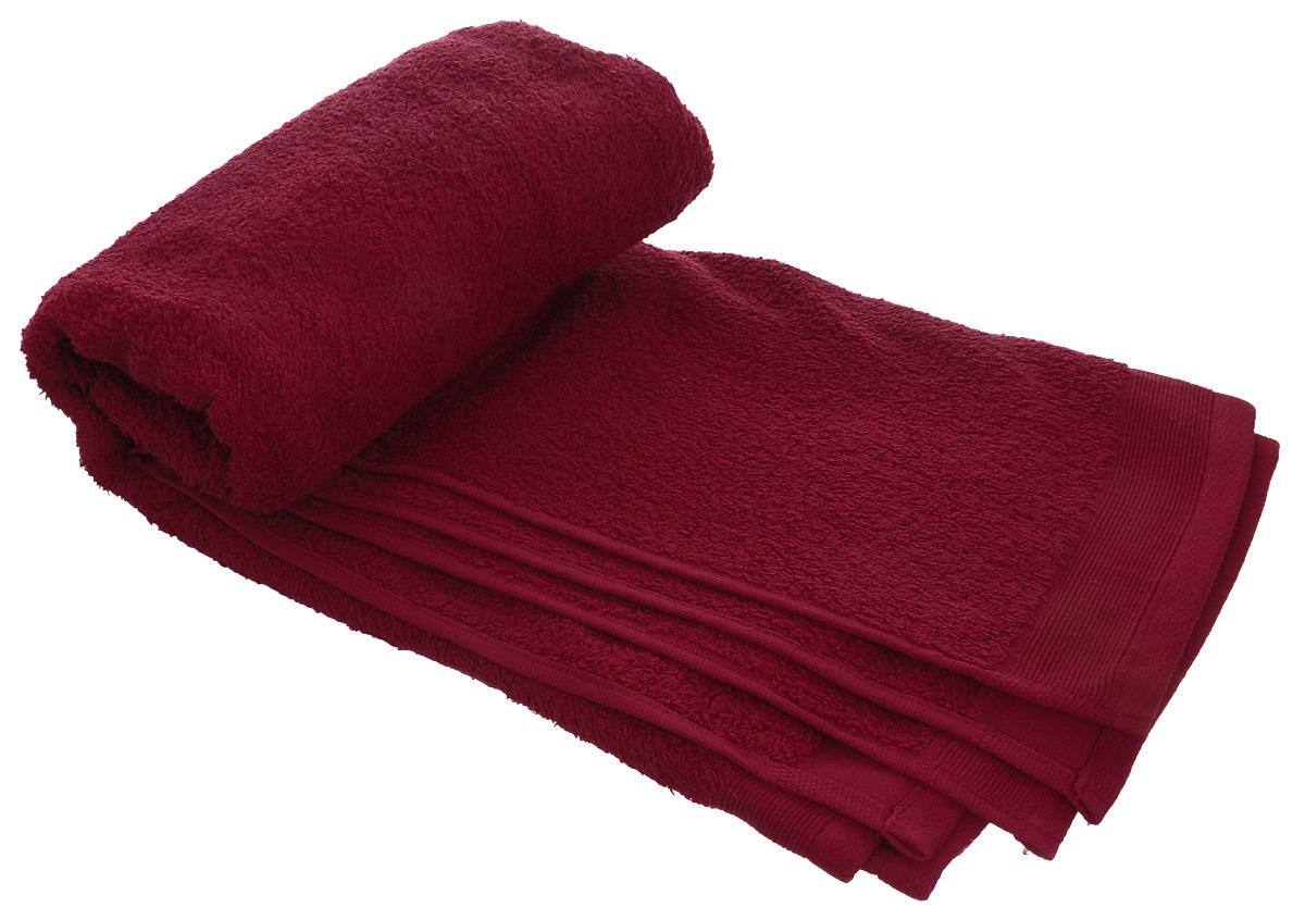 Полотенце махровое Guten Morgen, цвет: темно-красный, 70 х 140 см полотенце махровое guten morgen гладкокрашенное пммок 70 140 мокко 70 х 140 см