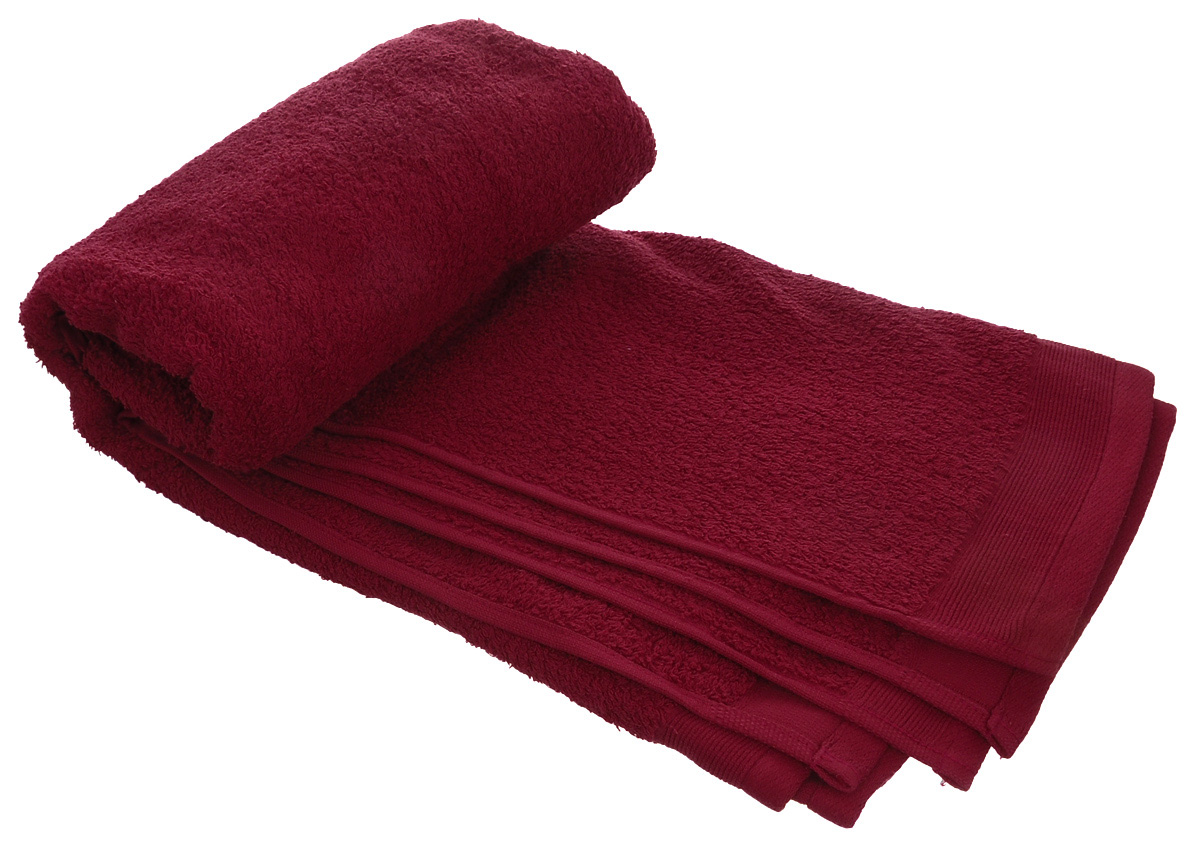 Полотенце махровое Guten Morgen, цвет: темно-красный, 50 х 100 см полотенце махровое guten morgen цвет темно голубой 50 см х 100 см