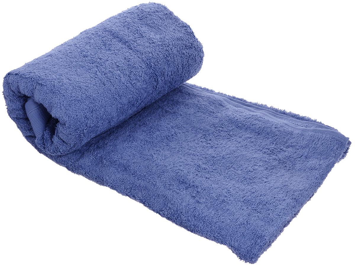 Полотенце махровое Guten Morgen, цвет: темно-голубой, 70 х 140 см полотенце махровое guten morgen гладкокрашенное пммок 70 140 мокко 70 х 140 см