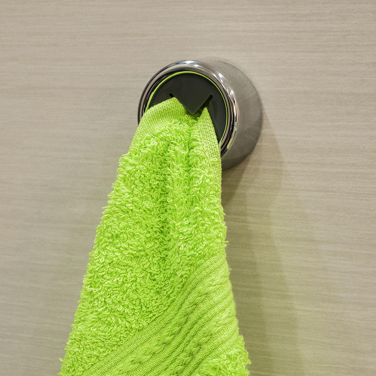 Вешалка самоклеящаяся Tatkraft Berra, для полотенец, диаметр 4 см вешалка tatkraft florida самоклеющаяся для 4 полотенец