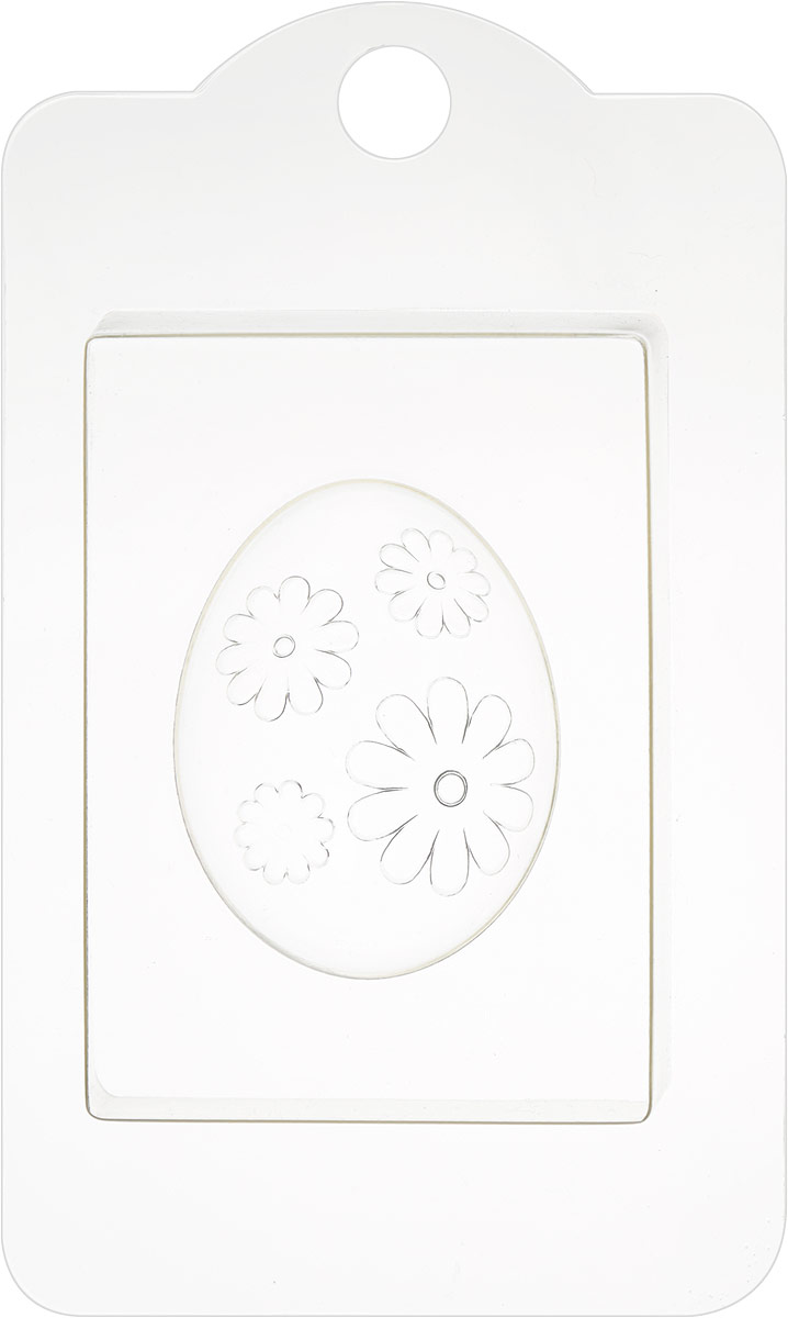 Форма пластиковая Яйцо. Ромашки, профессиональная, 19 см х 11,5 см х 2,5 см форма для мыла выдумщики букет тюльпанов пластиковая цвет прозрачный