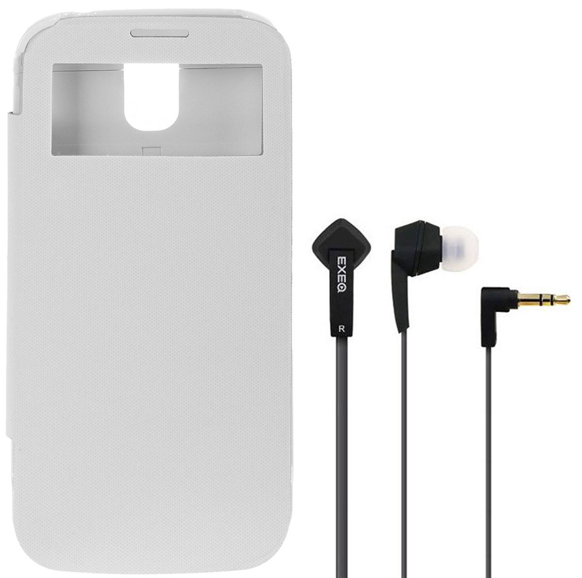 EXEQ HelpinG-SF07 чехол-аккумулятор для Samsung Galaxy S4, White (2600 мАч, Smart cover, флип-кейс)
