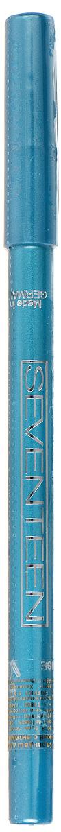 SEVENTEEN Карандаш для век водостойкий т.17 с витамин.Е Super Smooth W/P&Longstay бирюзовый, 1,2 гр seventeen anticernes маскирующий карандаш тон 17 розовато бежевый 5 гр