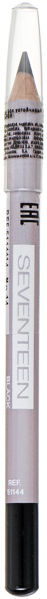 SEVENTEEN Карандаш для век устойчивый т.14 LONGSTAY EYE SHAPERчёрный, 1,14 гр карандаш для губ seventeen longstay lip shaper 19 цвет 19 ginger variant hex name 793745