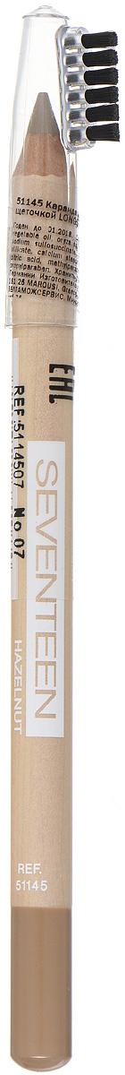 SEVENTEEN Карандаш для бровей с щеточкой т.07 LONGSTAY EYE BROW SHAPERореховый, 1,14 гр карандаш для губ seventeen longstay lip shaper 19 цвет 19 ginger variant hex name 793745