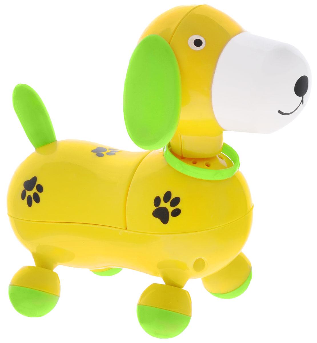 Mommy Love Электронная развивающая игрушка Веселый щенок цвет желтый